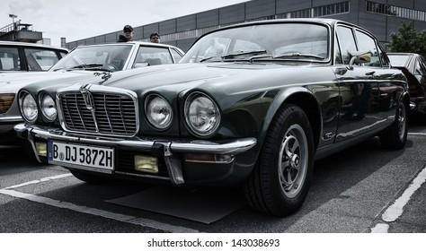 BERLIN - MAY 11: Car Jaguar XJ12 (toning), 26th Oldtimer-Tage Berlin-Brandenburg, May 11, 2013 Berlin, Germany