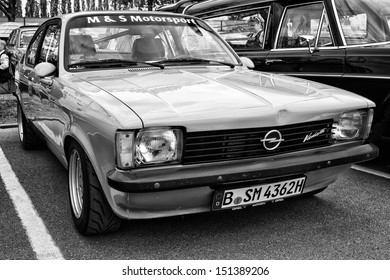BERLIN - MAY 11: Car Opel Kadett C Coupe (black and white), 26th Oldtimer-Tage Berlin-Brandenburg, May 11, 2013 Berlin, Germany
