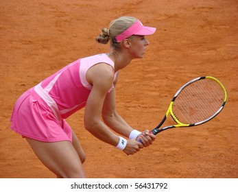 BERLIN - MAY 11:  Elena Dementieva of Russia competes in the Berlin Open 2008 on May 11, 2008.