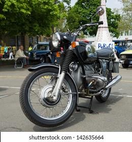 BERLIN - MAY 11: Motorcycle BMW R75/5, 26th Oldtimer-Tage Berlin-Brandenburg, May 11, 2013 Berlin, Germany