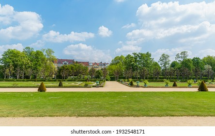 Berlin, May 18, 2016 - The Gardens at Charlottenburg Palace in Late Spring.