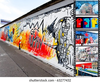 BERLIN - MAY 29: The East Side Gallery - the largest outdoor art gallery in the world on a segment of the Berlin Wall May 29, 2010 in Berlin.