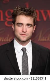 BERLIN - NOVEMBER 18: Robert Pattinson attends the Germany Premiere of 'The Twilight Saga: Breaking Dawn Part 1 on November 18, 2011 in Berlin, Germany.