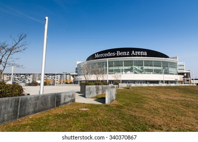Berlin, October 28, 2015: The Mercedes Benz Arena in Berlin, Germany; originally known as O2 World) is a multipurpose arena, opened in 2008. It holds important sport and entertainment events