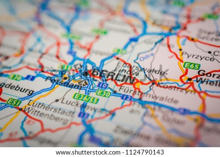 Berlin On Map Stock Photo (Edit Now) 1124790143 - Shutterstock