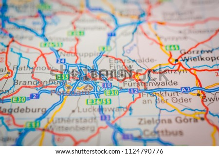 Berlin On Map Stock Photo (Edit Now) 1124790776 - Shutterstock