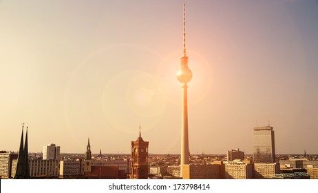 berlin panorama and lensflare