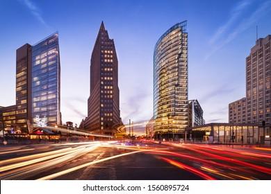 berlin, potsdamer platz at sunset - Shutterstock ID 1560895724