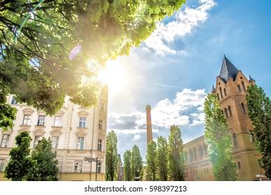 Knaackstraße in Berlin Prenzlauer Berg in summer sunlight