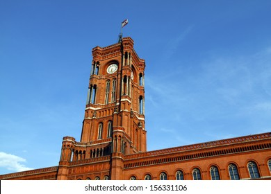 Berlin, the Red City Hall ( Rotes Rathaus ). Federal Republic of Germany, Capitol Berlin, district Mitte.