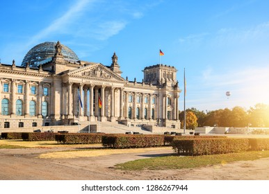 Berlin, Reichstag Building, sunny day
