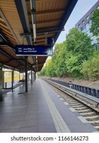 Berlin s-bahn platform on ring