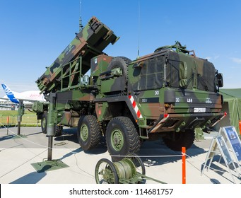 "BERLIN - SEPTEMBER 14: The MIM-104 Patriot is a surface-to-air missile (SAM) system (German Air Force), International Aerospace Exhibition ""ILA Berlin Air Show"", September 14, 2012 in Berlin, Germany"