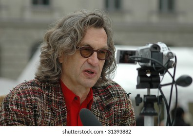 BERLIN, SEPTEMBER 9, 2006: Wim Wenders at a panel disussion in Berlin on September 9, 2006