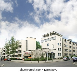 BERLIN, SIEMENSSTADT, GERMANY - MAY 4: Complex modern architecture on May 4, 2009 in Berlin, Germany. It was built in the 1930 by architect Walter Gropius. This is UNESCO World Heritage Site