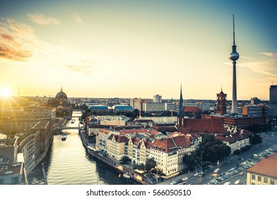 Berlin skyline with Berlin Cathedral and Television Tower