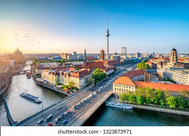 Berlin skyline at sunset with Television Tower, Germany