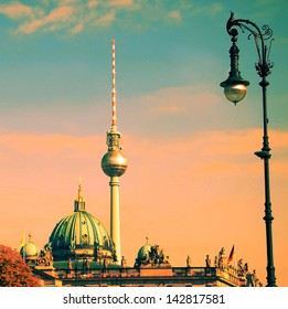 berlin with tv tower and german dome