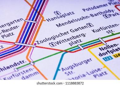 Berlin U-Bahn map
