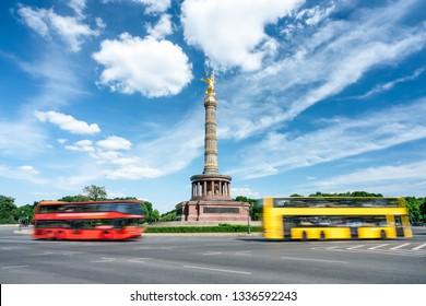 Berlin Victory Column at the Großer Stern square, Tiergarten, Berlin