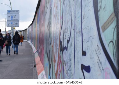 Berlin Wall at East side gallery. Berlin, Germany
