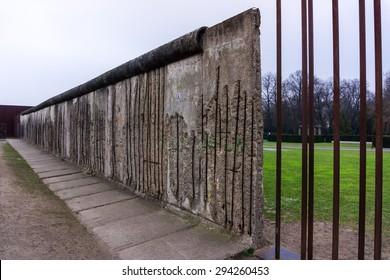 The Berlin Wall. Berlin Wall Memorial at Bernauer strasse
