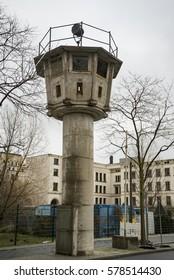 Berlin wall watch tower near Potsdamer Platz
