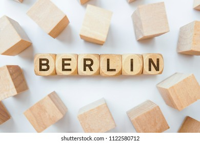 Berlin word on wooden cubes