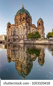 The Berliner Dom and the river Spree in the early morning