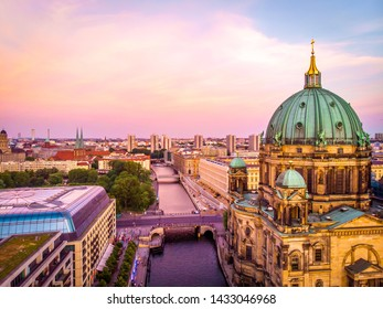 Berliner dome after sunset, Berlin
