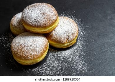 Berliner Doughnuts European donuts tradicional bakery for fasching carneval time