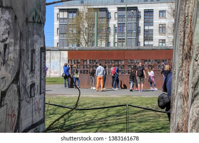 The Gedenkstätte Berliner Mauer (Berlin Wall Memorial) commemorates the division of Berlin by the Berlin Wall and the deaths that occurred there. Berlin, Germany - 21/04/2019