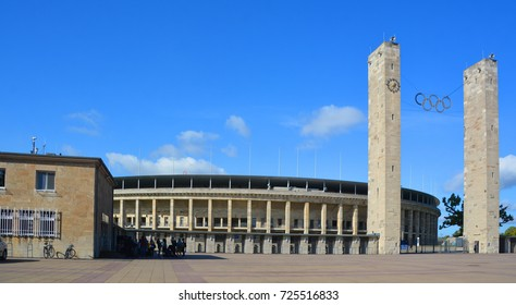 BERLIN-GERMANY 09 23 17: Berlin's Olympia Stadium the current Olympiastadion was originally built for the 1936 Summer Olympics in the southern part of the Reichssportfeld