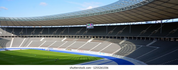 BERLIN-GERMANY 09 23 17: Indoor Berlin Olympia Stadium the current Olympiastadion was originally built for the 1936 Summer Olympics in the southern part of the Reichssportfeld