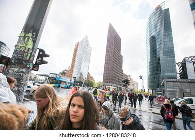Berlin/Germany April 17, 2016 Potsdamer Platz the financial district of the capital of Germany - Image