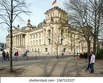 Berlin/Germany - March 31st, 2017: Reichstag building. This is a historical edifice  constructed to house the Imperial Diet of the German Empire.
