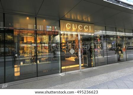 9f3d8129698 BERLINGERMANYAPRIL 28 GUCCI Fashion Store On Stock Photo (Edit Now ...