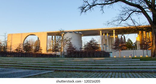 BERLIN-NOV 12: Bundeskanzleramt (Federal Chancery) on Nov 12, 2012 in Berlin, Germany. Designed by Axel Schultes and Charlotte Frank, holds the office of the german Chancellor