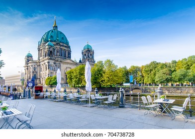 berlin,The  Berlin Cathedral (Berliner Dom) in morning mood on a summer day