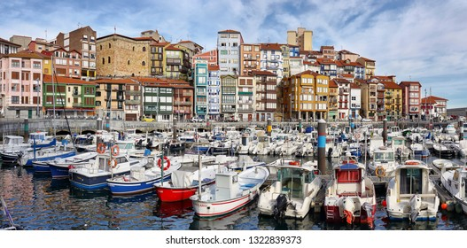 Bermeo, Spain - October 13, 2018: Bermeo is a small fishing village in the Basque Country, Spain