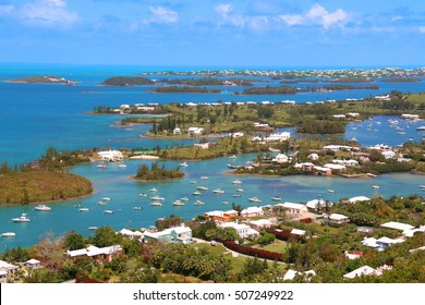 Bermuda tropical landscape view from above