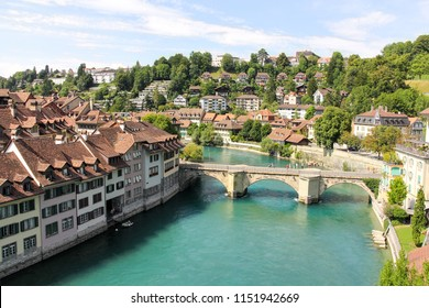 Bern - capital of Switzerland, the old town, which is UNESCO World Heritage Site.