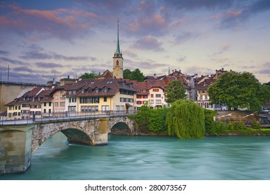 Bern. Image of Bern, capital city of Switzerland, during sunrise.