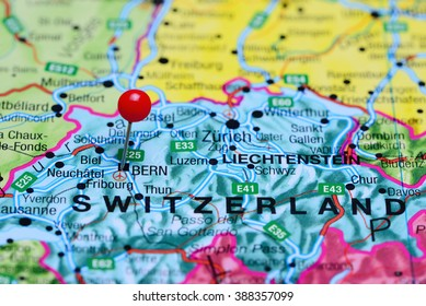 Zurich Pinned On Map Europe Stock Photo Royalty Free 211340626