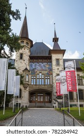 Bern, Switzerland - April 20, 2017: The Bern Historical Museum, was designed by architect Andre Lamber and built in 1894