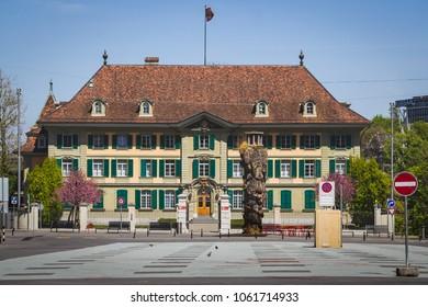 Bern, Switzerland - April 23, 2017: The cantonal Police headquarters (Kantonspolizei) in Bern