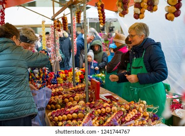 BERN, SWITZERLAND - NOVEMBER 26, 2018: Traditional Swiss Festival, Bern Fair of Onions