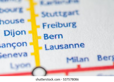 Bern, Switzerland on a geographical map.