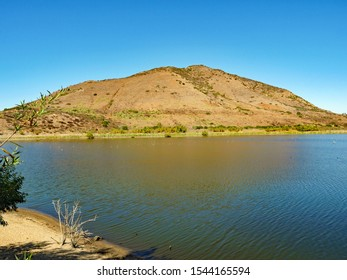 Bernardo Mountain, a view to the north across Lake Hodges, San Diego County, California, October 2019