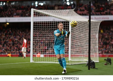 Bernd Leno of Arsenal - Arsenal v Wolverhampton Wanderers, Premier League, Emirates Stadium, London, UK - 2nd November 2019